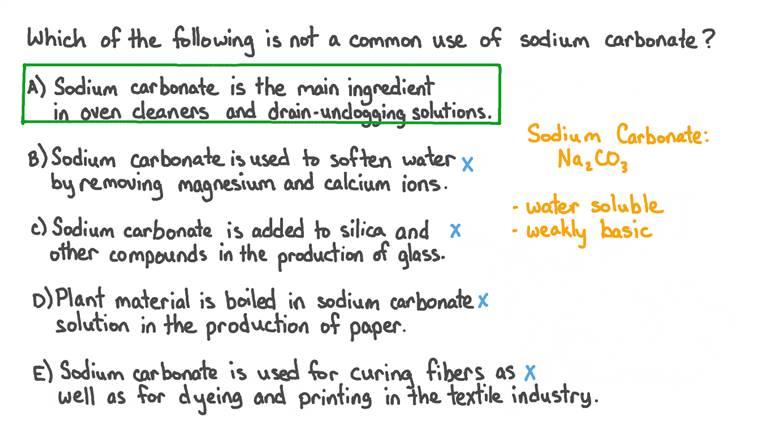 Identifier les utilisations courantes du carbonate de sodium
