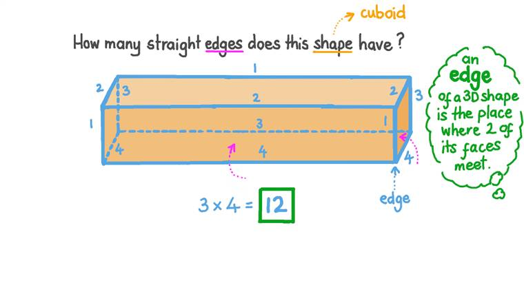 Counting the Edges of 3D Shapes