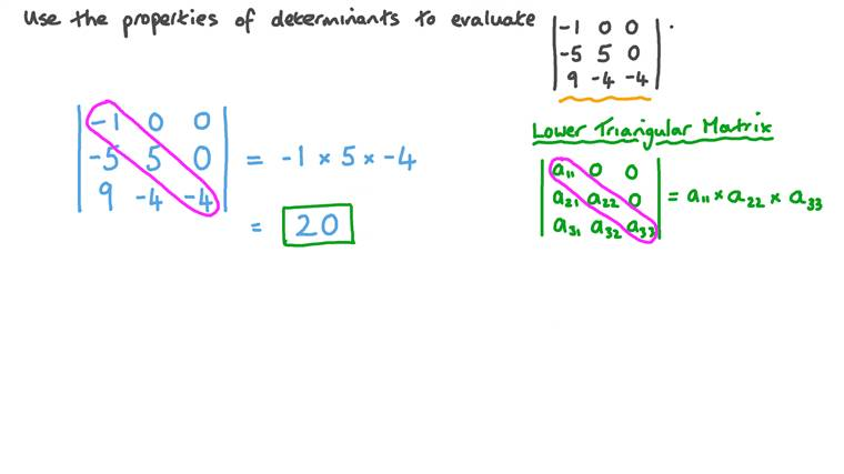 Using the Properties of Determinants to Evaluate a 3 × 3 Determinant