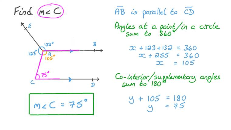 Finding the Measure of an Angle given Its Corresponding Angle's Measure