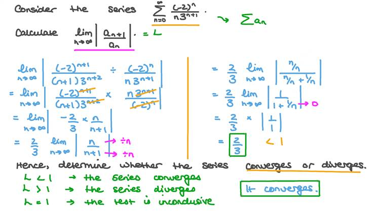 Using the Ratio Test to Determine Convergence