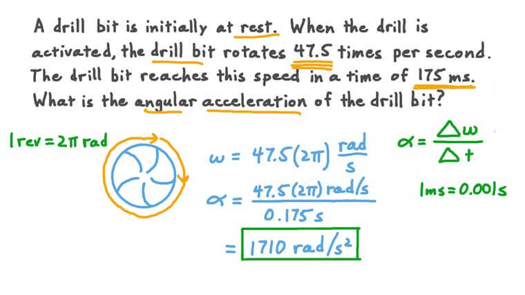 Calculating the Angular Acceleration of a Drill Bit