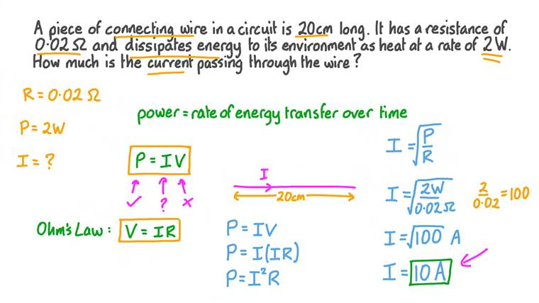 Finding the Current through an Electrical Component