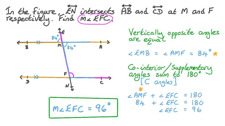 Finding the Measure of an Angle Given Its Supplementary Angle's Measure