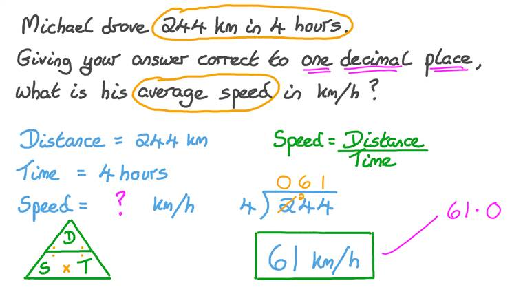Solving Word Problems Involving Rates