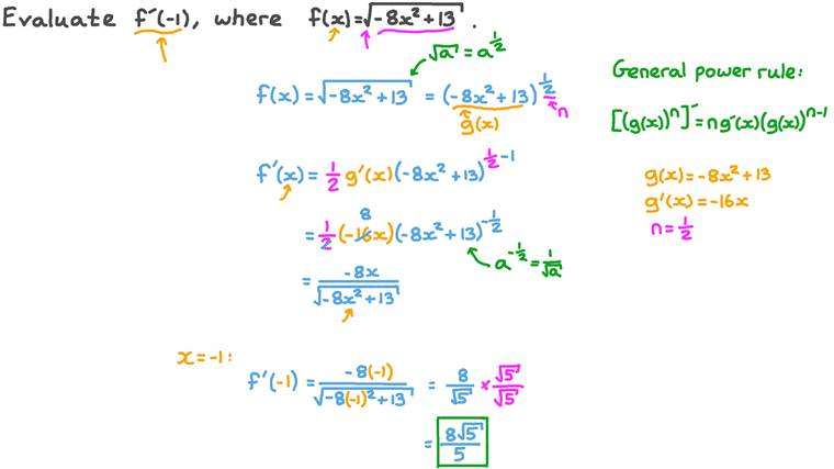 Differentiating Root Functions Using the Chain Rule