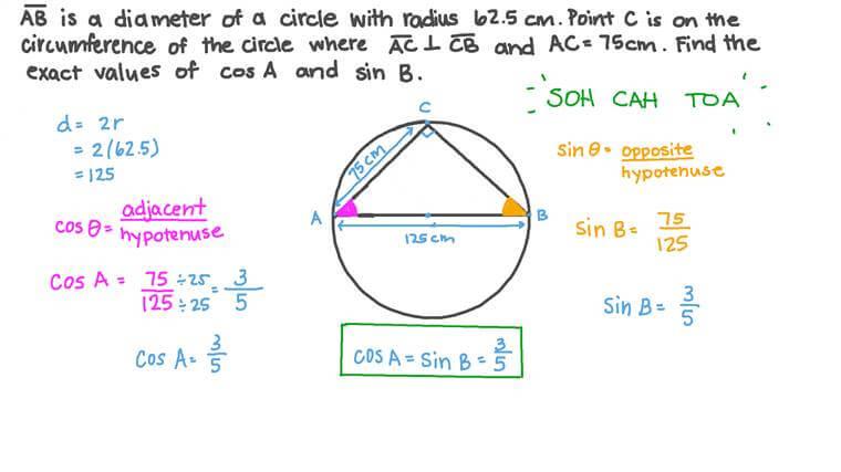 Utiliser les rapports trigonométriques pour résoudre des problèmes impliquant des cercles