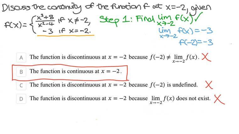 Discutindo a Continuidade de uma Função Definida por Partes em um Ponto