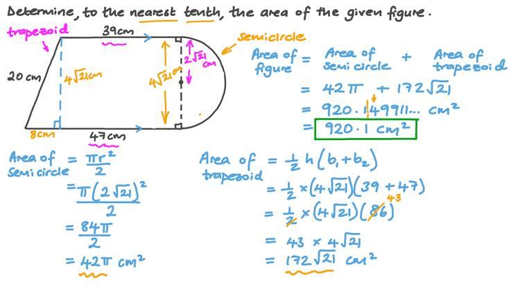 Determining the Area of a Composite Figure