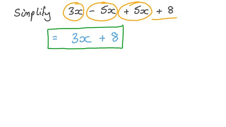 Simplifying Expressions Using the Commutative and Associative Properties of Addition
