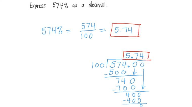 Expresar porcentajes como números decimales