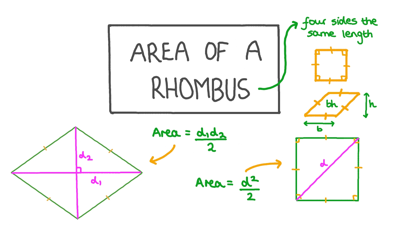 Area of a Rhombus With Area Of Rhombus Worksheet