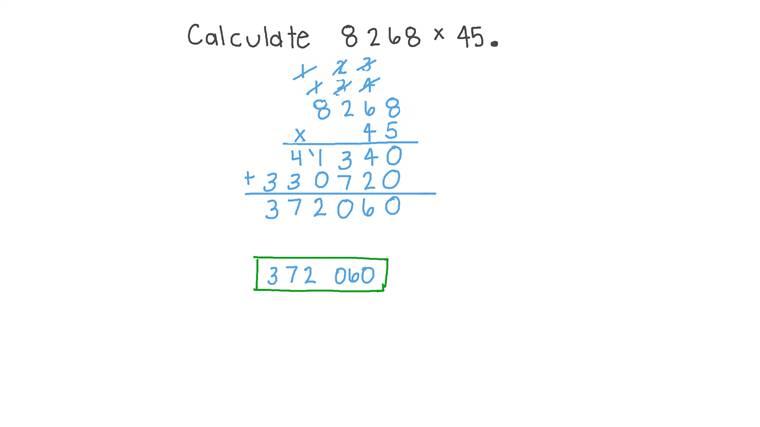 Multiplier un nombre à plusieurs chiffres par un nombre à deux chiffres