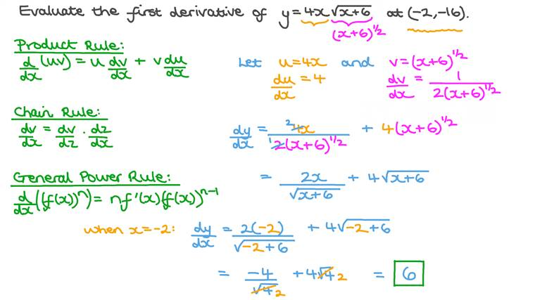 Differentiating Combinations of Polynomial and Root Functions Using Product and Chain Rules