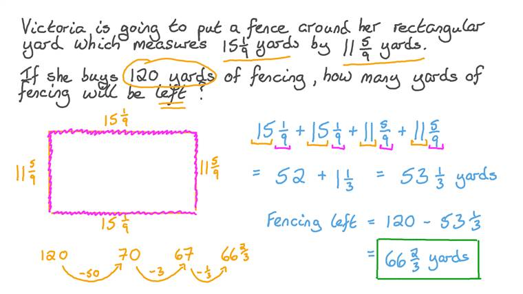 Solving Word Problems Involving Mixed Numbers
