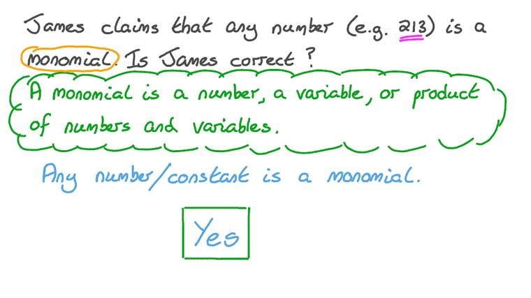 Identifying Whether a Number is a Monomial