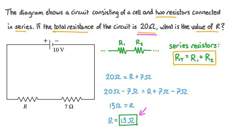 Finding the Total Resistance of Components in Series