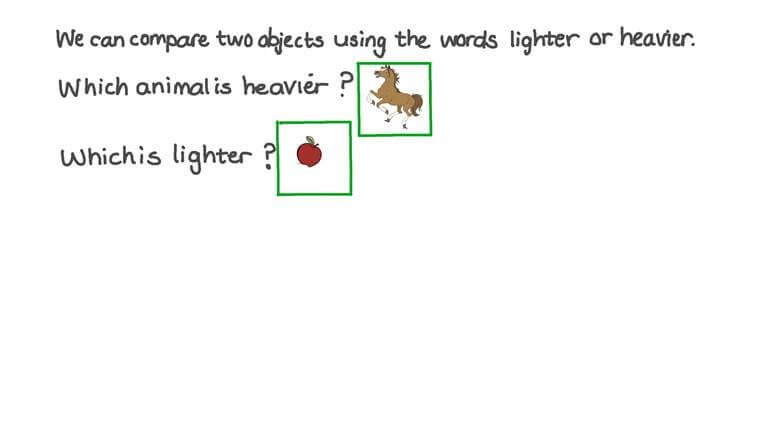 Identifying Which Object Is Heavier or Lighter
