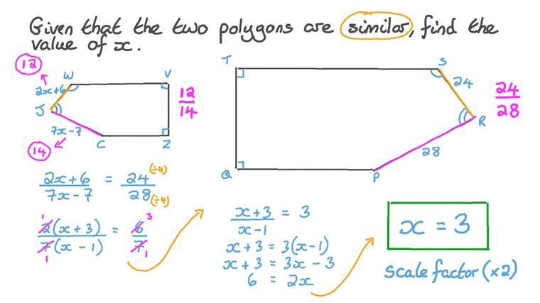 Finding an Unknown Using the Similarity between Polygons