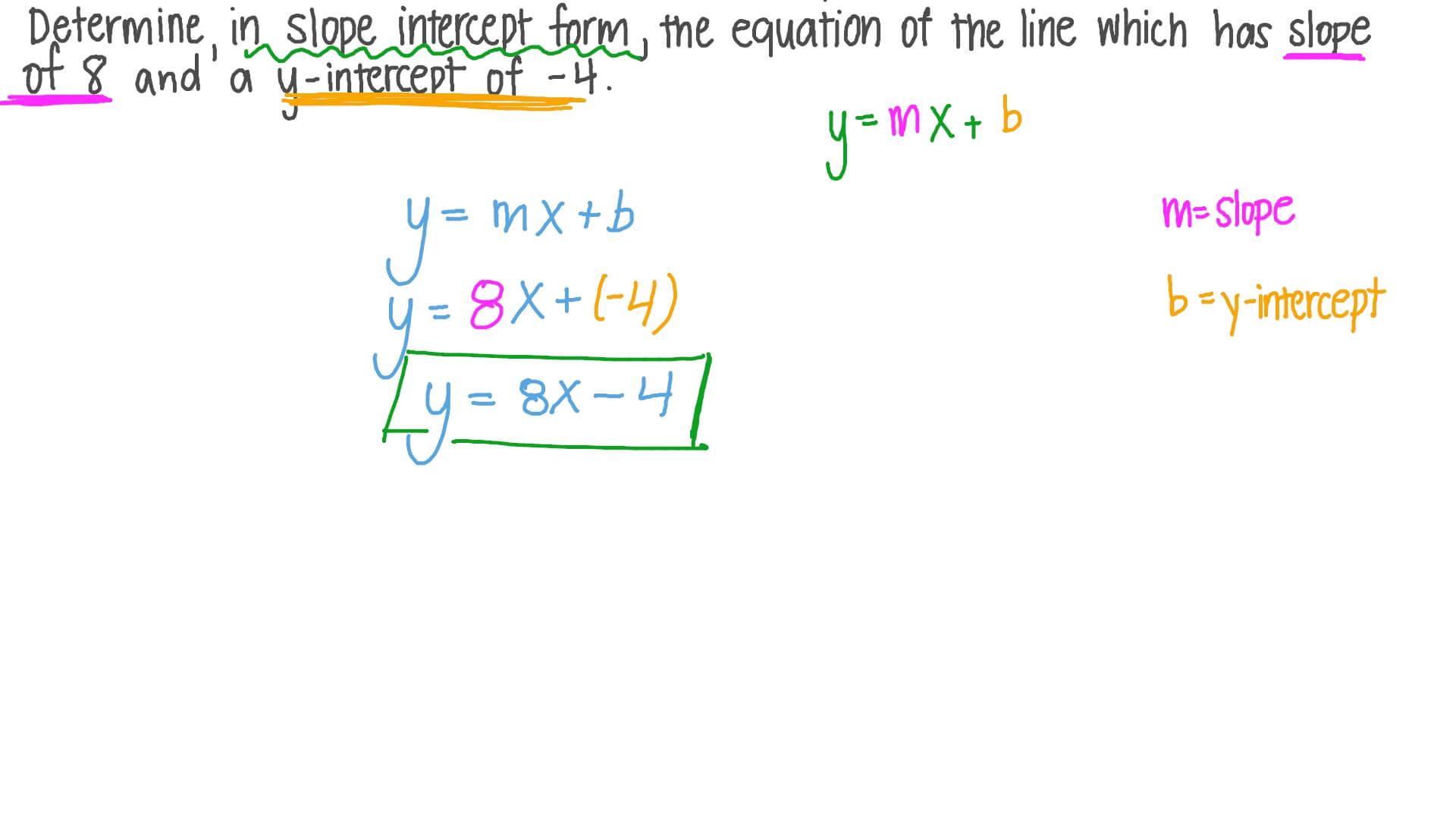 slope and y intercept equation of a line  tessshebaylo