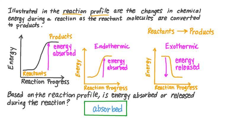 Déterminer si l'énergie est libérée ou absorbée par les réactifs en utilisant un profil réactionnel
