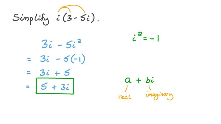 Simplifying the Product of a Complex Number and an Imaginary Number