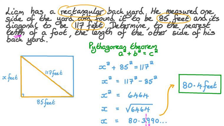 Solving One Missing Length of a Right Triangle in Real-life Contexts