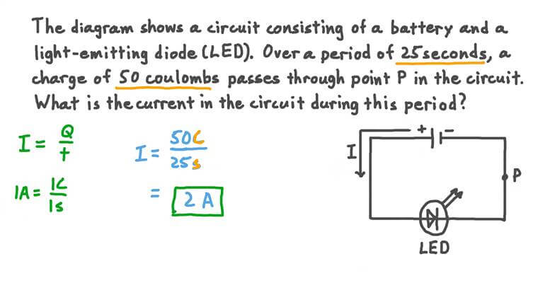 Finding the Current through a Point in a Circuit