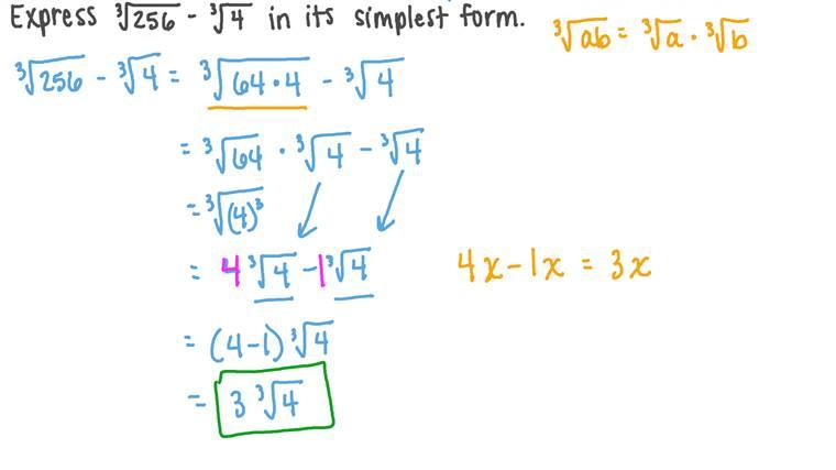 Simplificando Expressões Numéricas Envolvendo Raízes Cúbicas