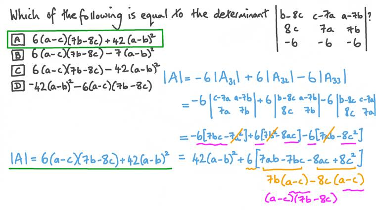 Finding a Three-by-Three Determinant