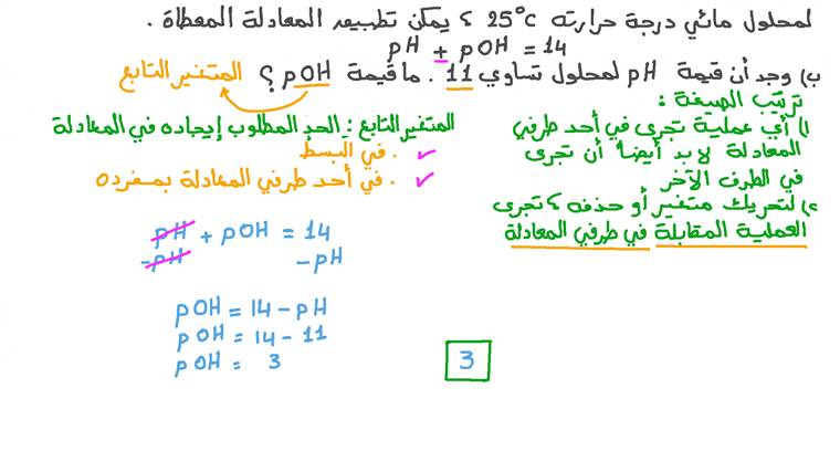 إعادة ترتيب معادلة جبرية لتغيير المتغير التابع